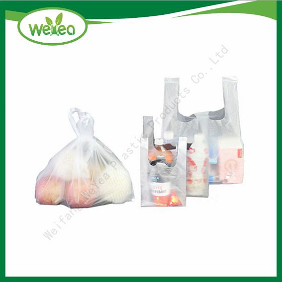 White Vest Carrier Shopping Bags