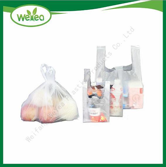 White Vest Carrier Shopping Bags