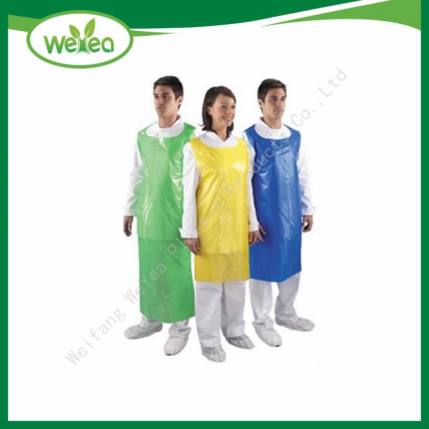 Hygiene Disposable Colorful Plastic Apron