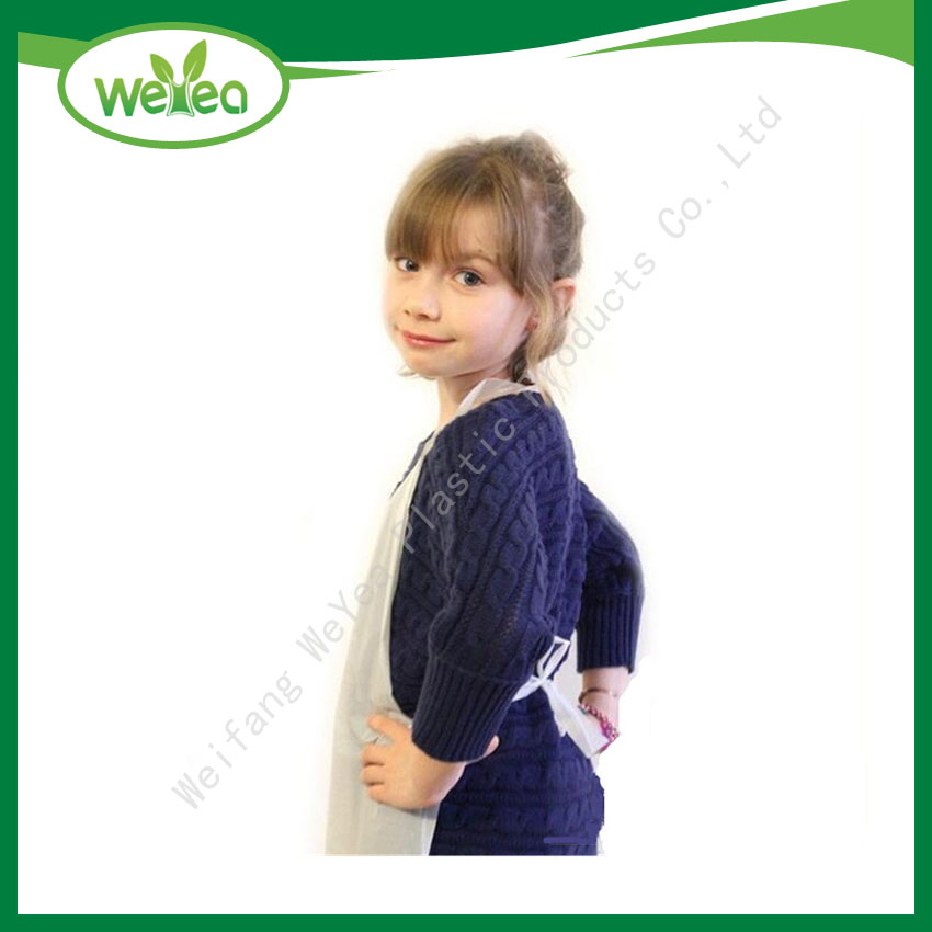 Disposable PE Barber LDPE Apron for Kid