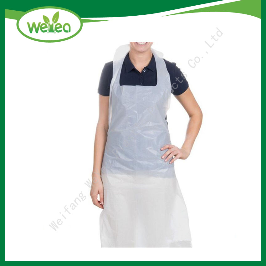 LDPE  Plastic Disposable Hygienic White Apron