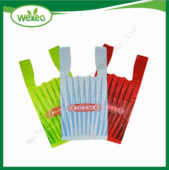Plastic Printed Vest Carrier Shopping Bag