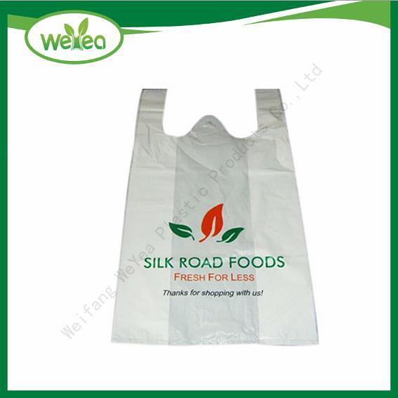 Plastic Printed Vest Carrier Shopping Bag