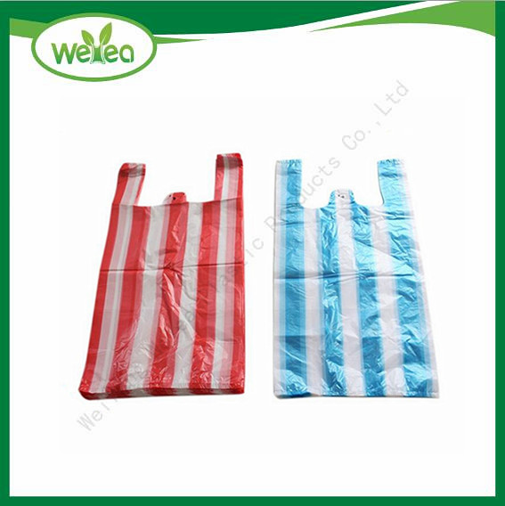 Disposable Candy Colorful Striped T-Shirt Bags