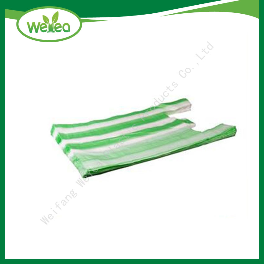 Candy Striped Plastic Packaging Bag