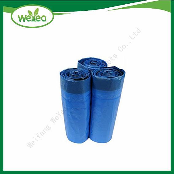 Blue Color PE Drastring Bag