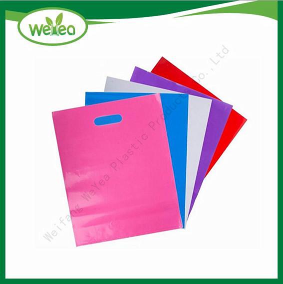 Polythene Colorful Die Cut Handle Bags