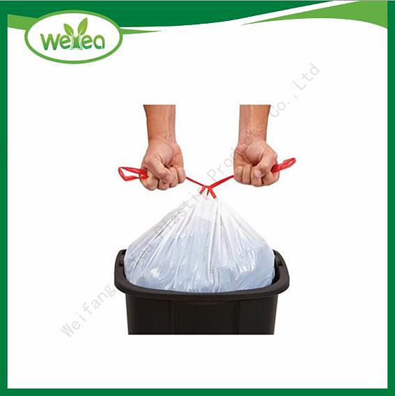 Plastic HDPE Drawstring Tash Bags