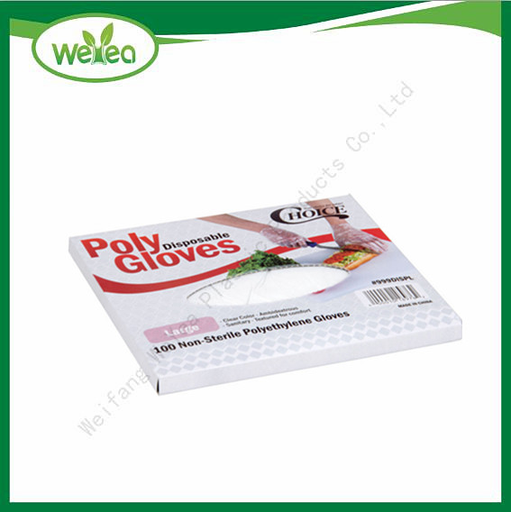 Biodegradable Plastic Disposable Poly Gloves