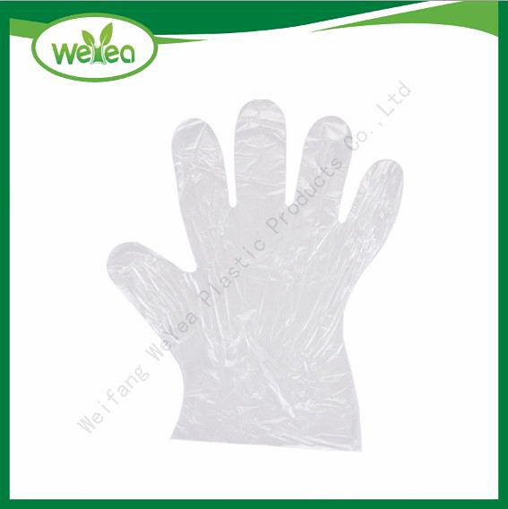 Protective Poly Disposable Gloves Embossed